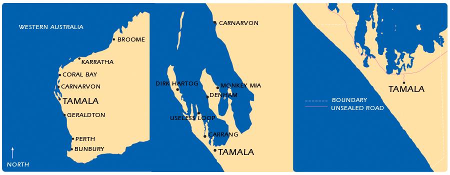 Shark Bay Western Australia Map Tamala Shark Bay Western
